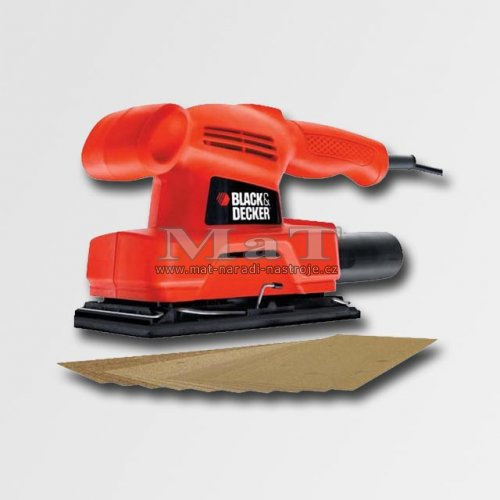 Vibrační bruska 135W, 187x90mm Black and Decker