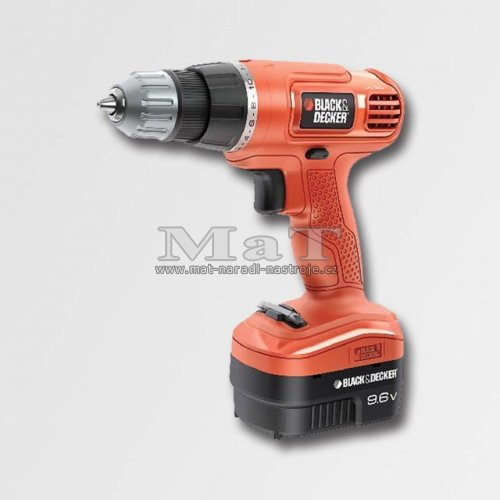 Aku vrtačka 9,6V Black and Decker